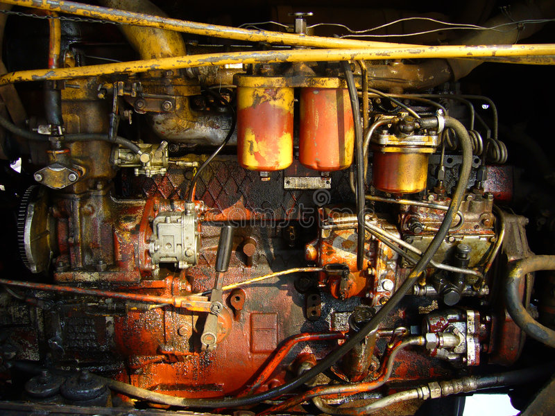 Groungy engine bay royalty free stock photo