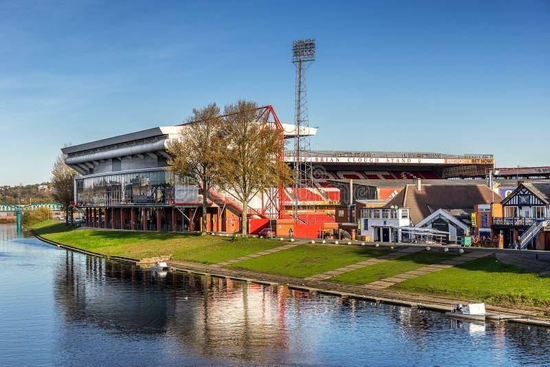 Grouns du football de Nottingham Forest image libre de droits
