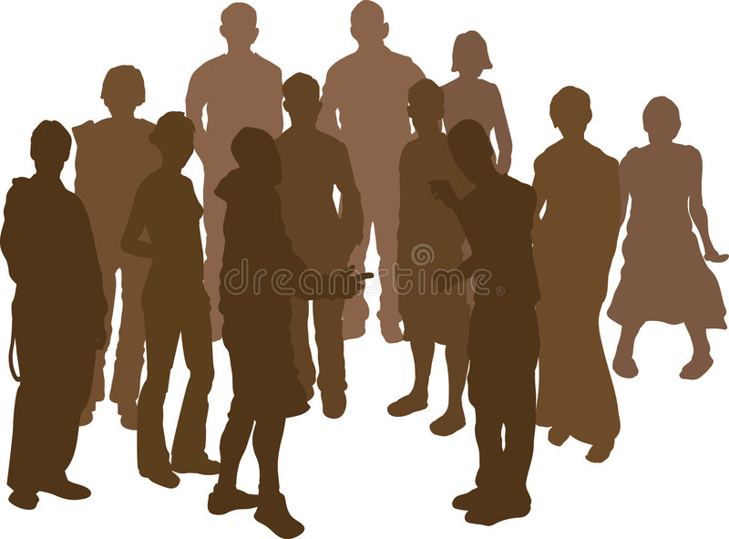 Download Group of 12 friends stock vector. Image of outline, image - 1580497