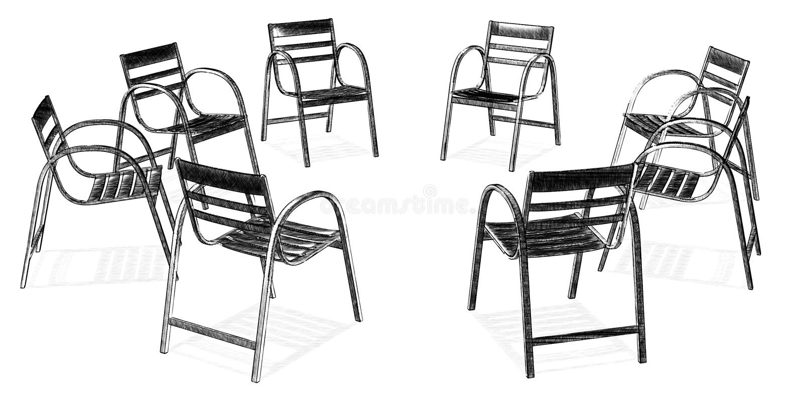 Download Group stock illustration. Image of intersubjective, freud - 1232403