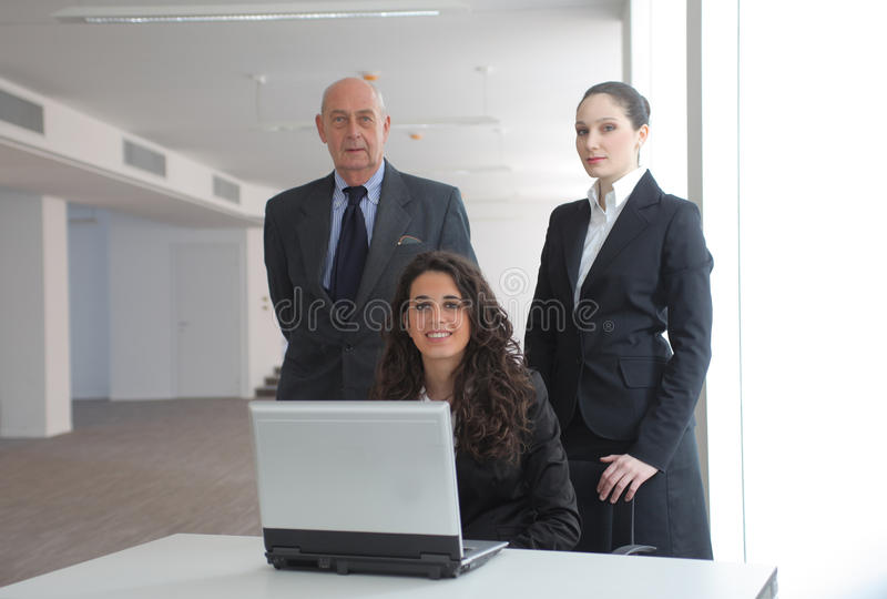 Download Group stock image. Image of three, employment, girl, elder - 13957335
