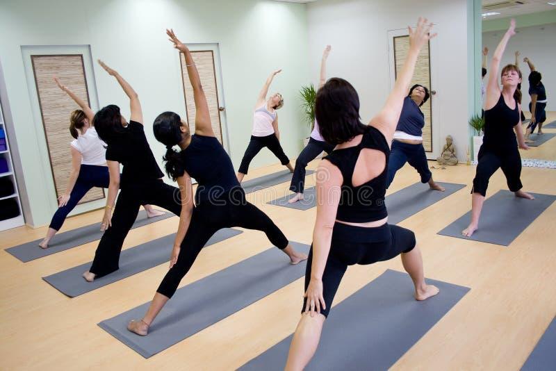 Group aerobics stock image