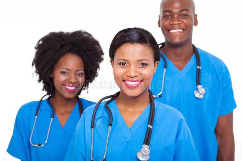 African medical doctors stock photos