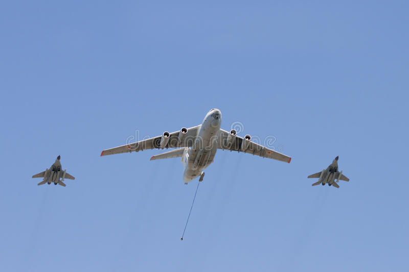 Group of aircrafts stock photo