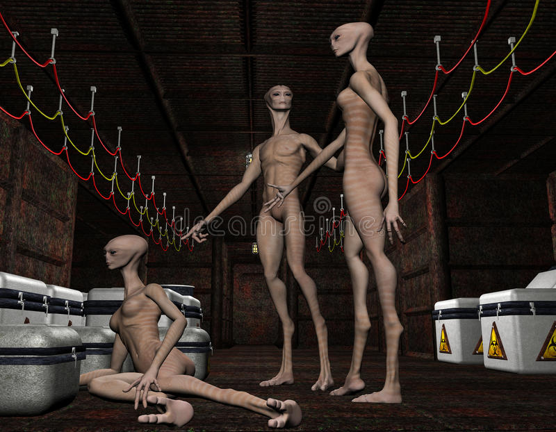 Download Group alien life forms stock illustration. Image of hall - 26583656