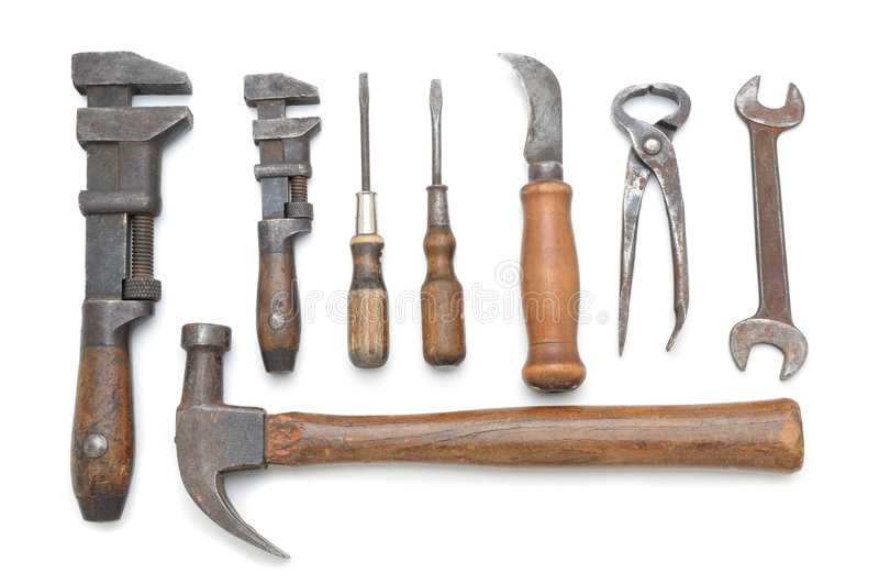 Group Of Antique Tools Royalty Free Stock Photo