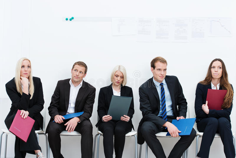 Group of applicants for a vacant post stock image