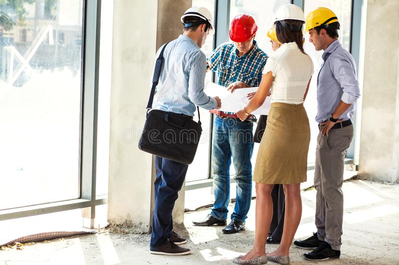 Group of architects and experts . royalty free stock image