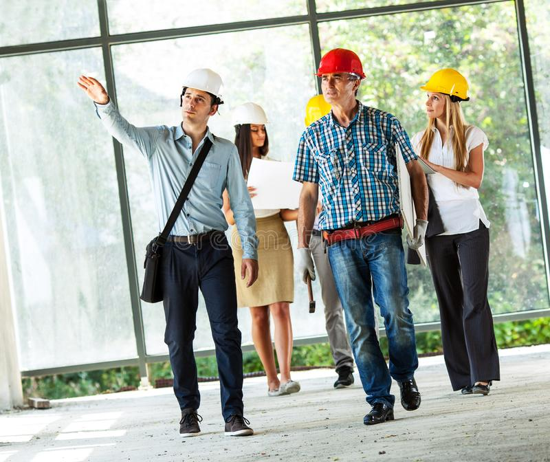 Group of architects and experts . stock image