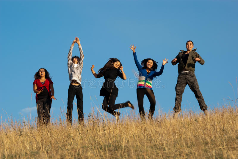 Group of asian beautiful people stock images