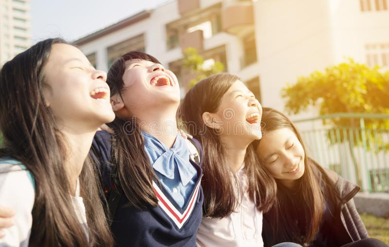 Group Of asian Teenage Students  stock photography
