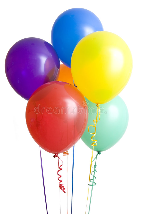 Group of Ballons on White stock photography