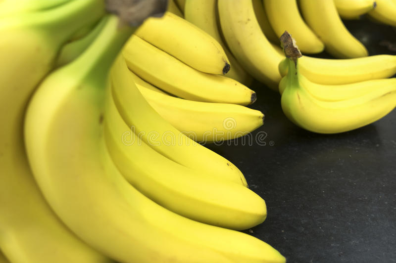 Group of bananas. Group of bananas with copy space royalty free stock photos