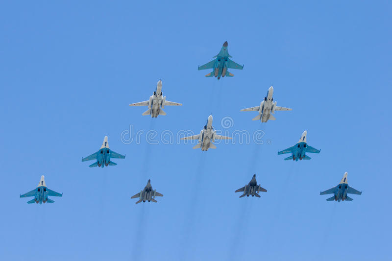 Group Of Battle-planes Stock Photos