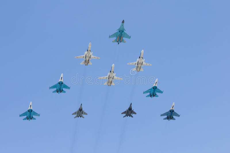 Download Group of battle-planes stock image. Image of force, flanker - 11960609