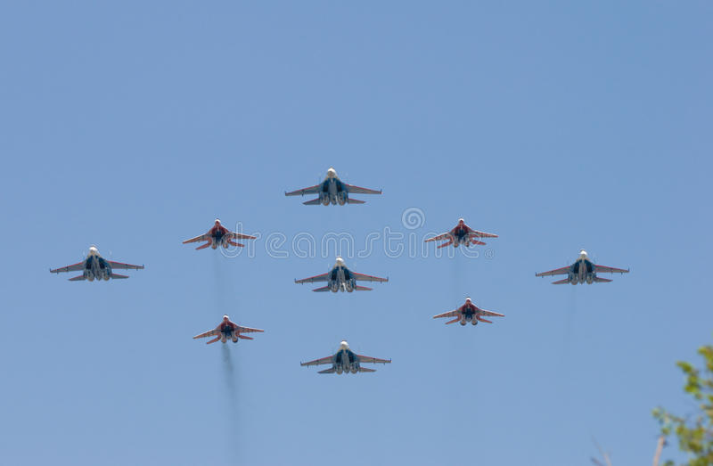 Group of battle-planes royalty free stock images