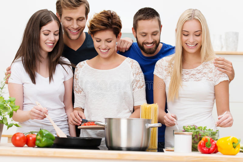 Download Group Of Beautiful Young Women Cooking Stock Photo - Image: 33773568