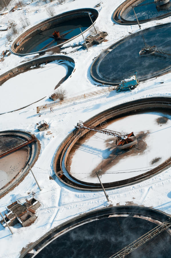 Group from the big round sedimentation drainages royalty free stock images