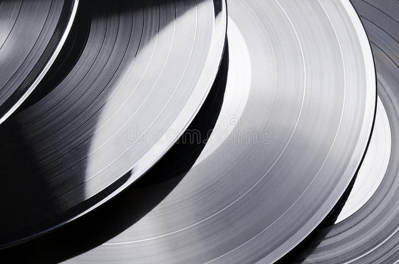 Beautiful vinyl record. Group of black vintage records. Stylish musical records. Group of black vintage records. Beautiful vinyl record. Stylish musical records stock image