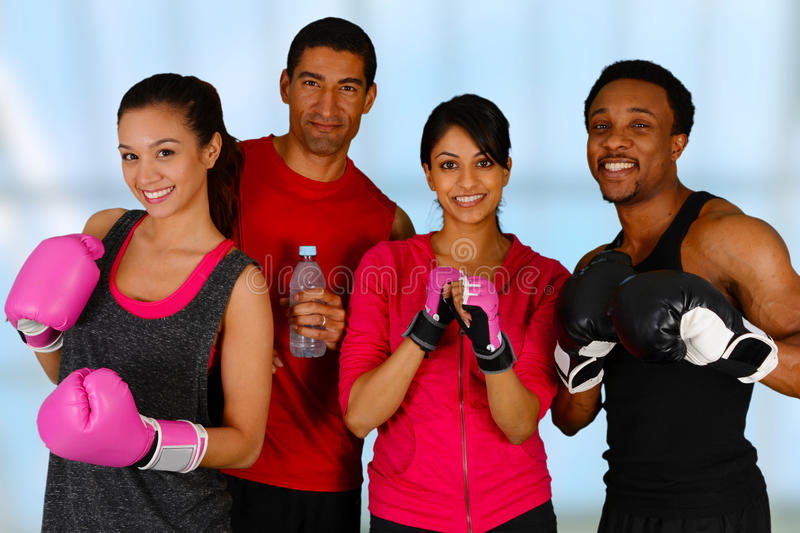 Group Boxing royalty free stock images