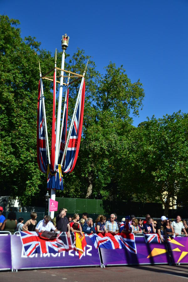 Download Group Of British Fans Awaiting For The Athletes Editorial Photography - Image: 26524742