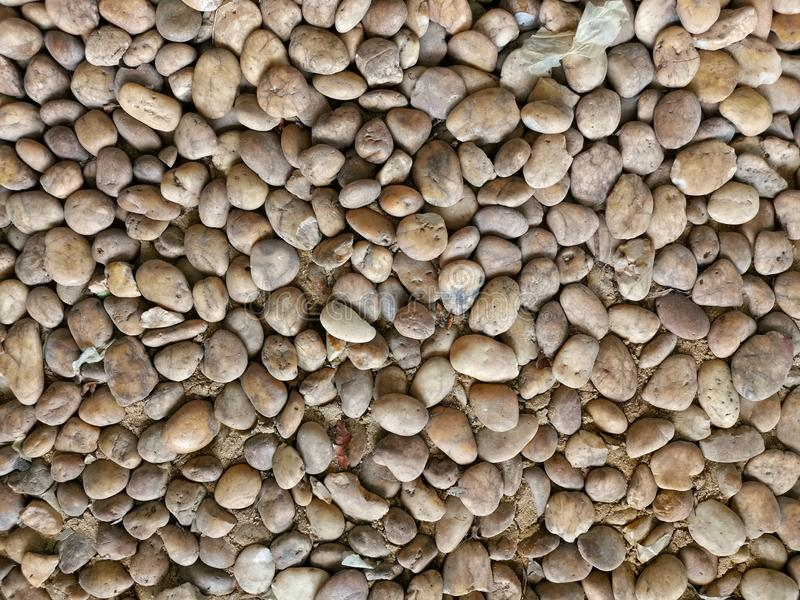 Group of brown stones royalty free stock photo