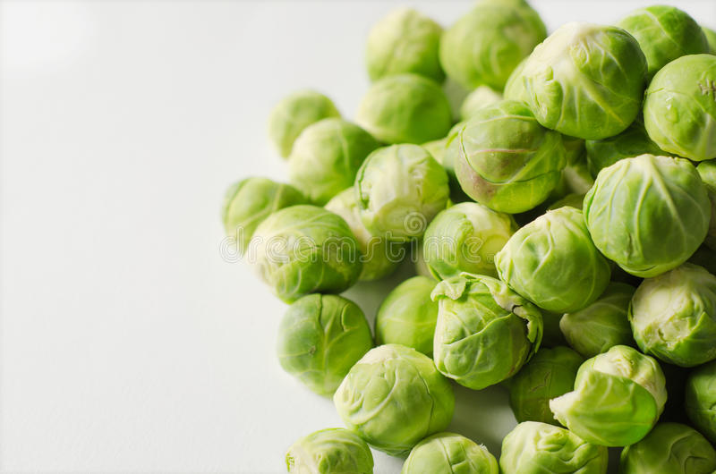 A group of Brussel sprouts. Close up of a group of Brussel sprouts royalty free stock photography