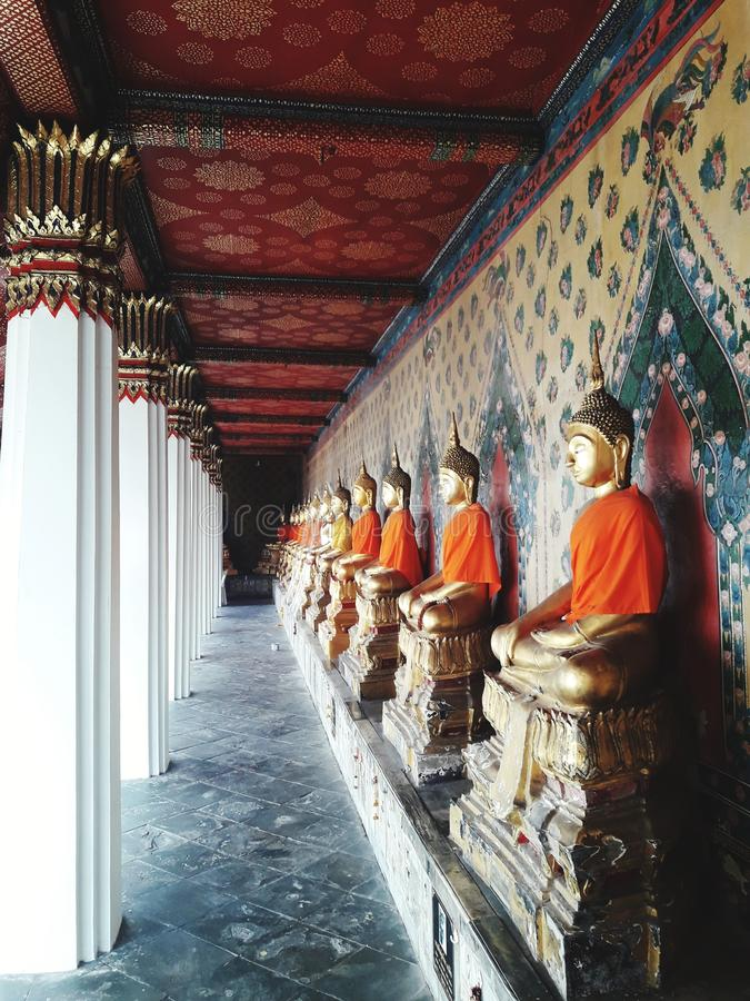 Group of Buddha images. In Thailand royalty free stock photo