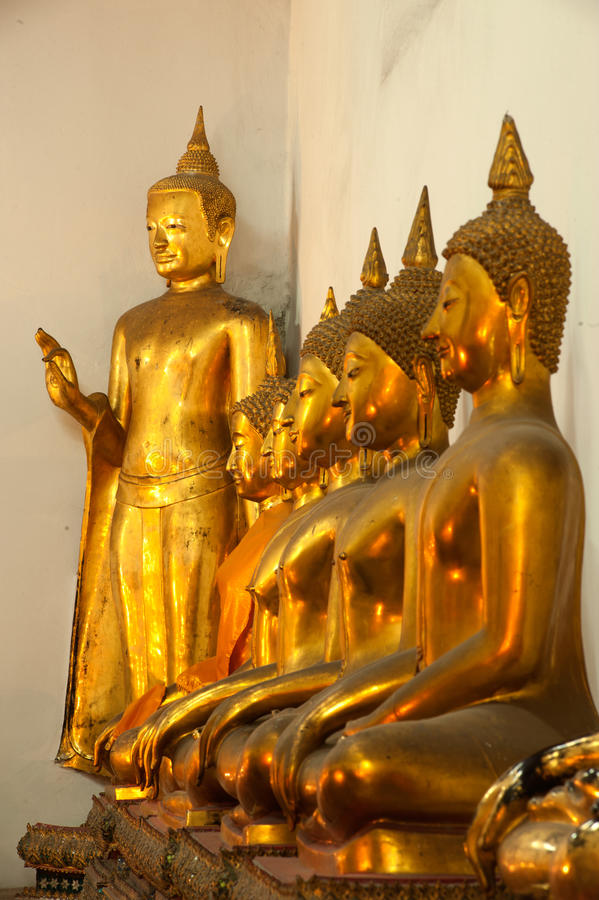 Download Group Of Buddhas In The Wall At Church . Stock Photo - Image: 26856068