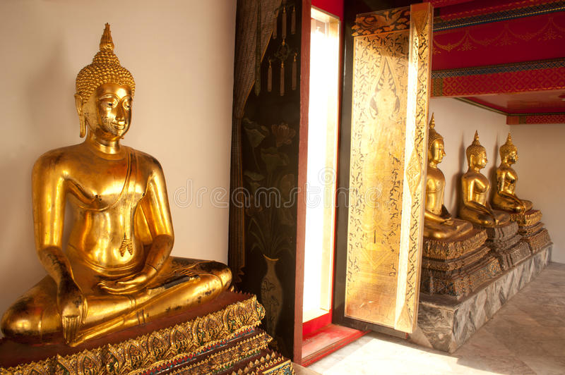 Download Group Of Buddhas In The Wall At Church . Royalty Free Stock Photos - Image: 26856108