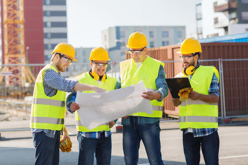 Group of builders with tablet pc and blueprint stock photo image download group of builders with tablet pc and blueprint stock photo image of male malvernweather Images