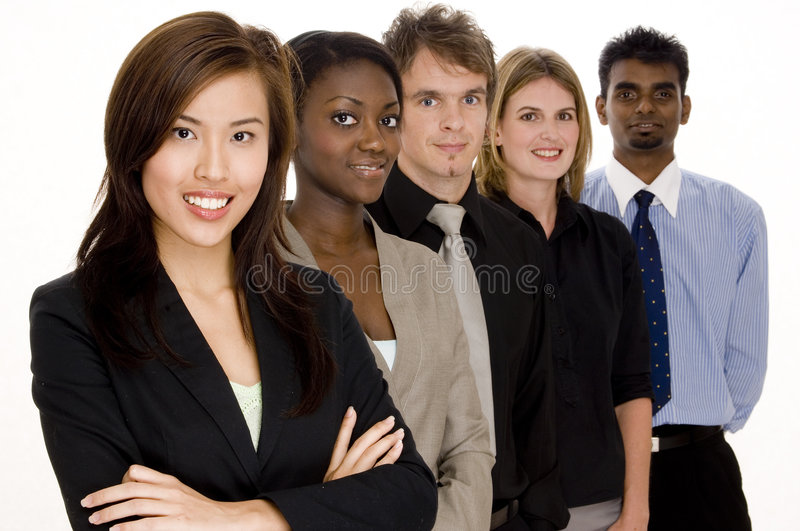 Group Business. A diverse group of individuals make this business team