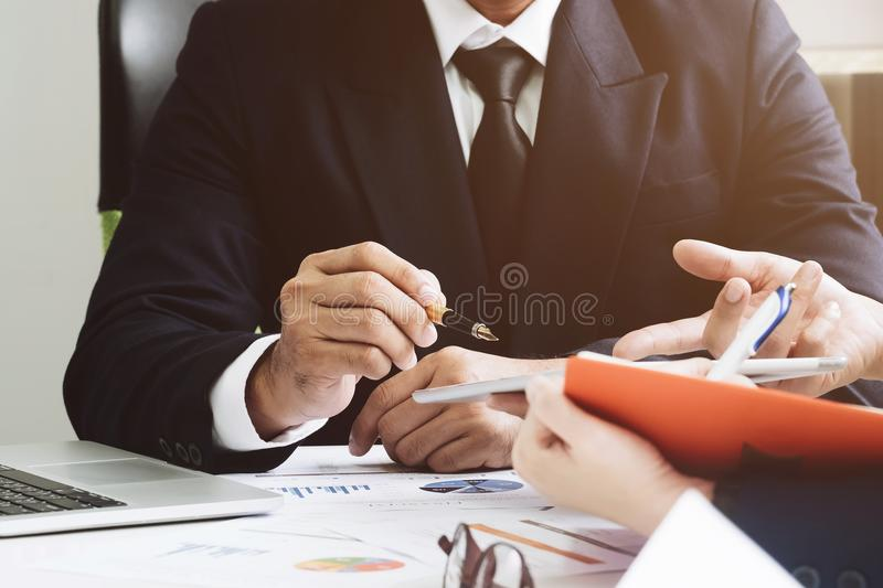 Group of business. Business Team adviser usy discussing financial matter during meeting,Business meeting Concept royalty free stock image