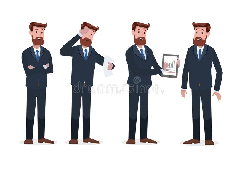 Group of business and corporate character stock images
