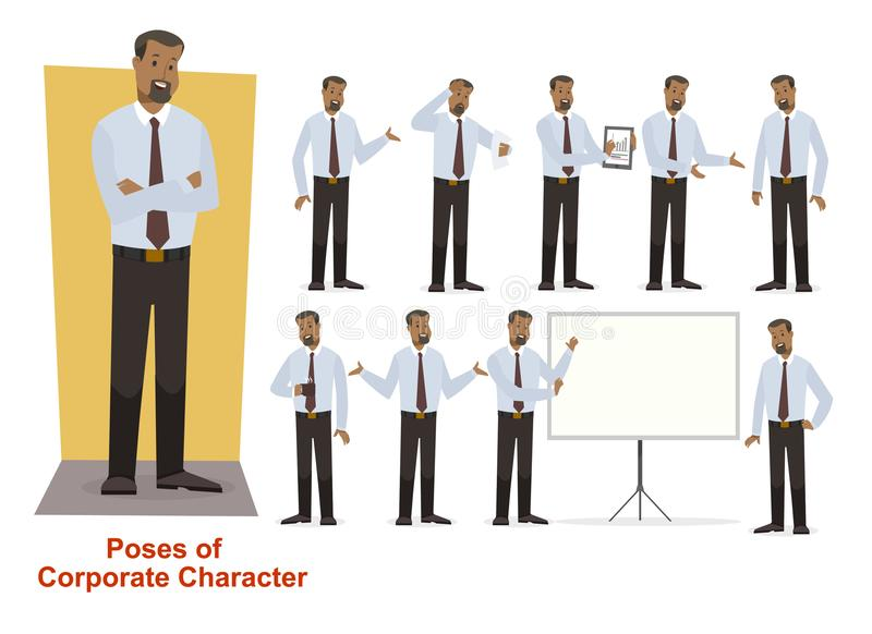 Group of business and corporate character royalty free stock photo