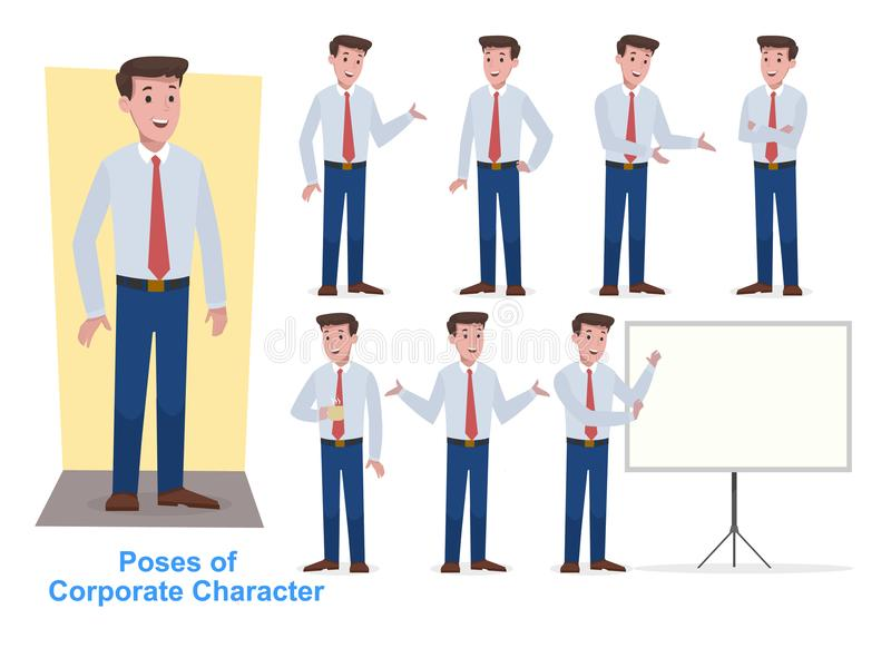 Group of business and corporate character royalty free stock photos