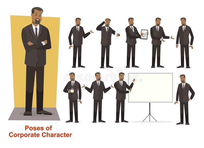 Group of business and corporate character stock image