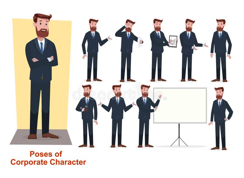 Group of business and corporate character stock photo