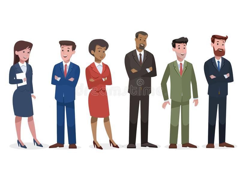 Group of business and corporate character royalty free stock images