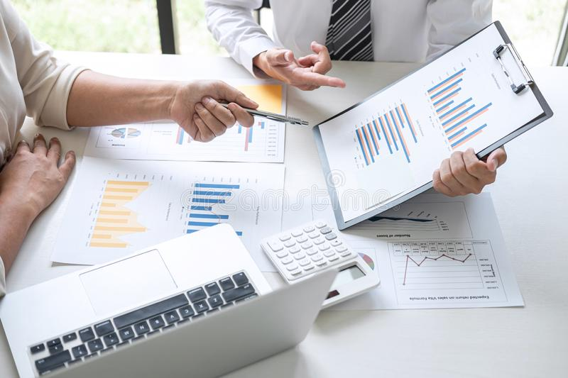 Group of Business leader team conference on meeting presentation to planning investment project working and strategy of business royalty free stock photography
