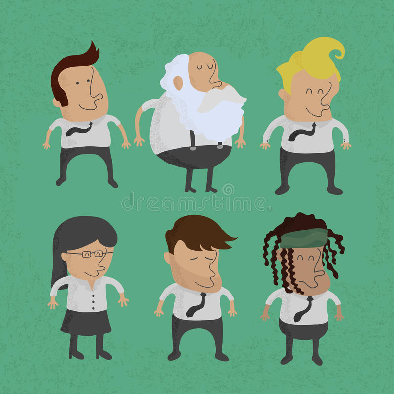 Group of business men charactor, women. Eps10 format royalty free illustration