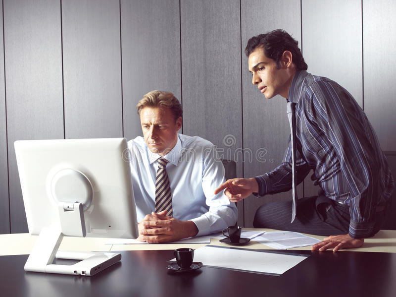 Group of business men zz royalty free stock photography