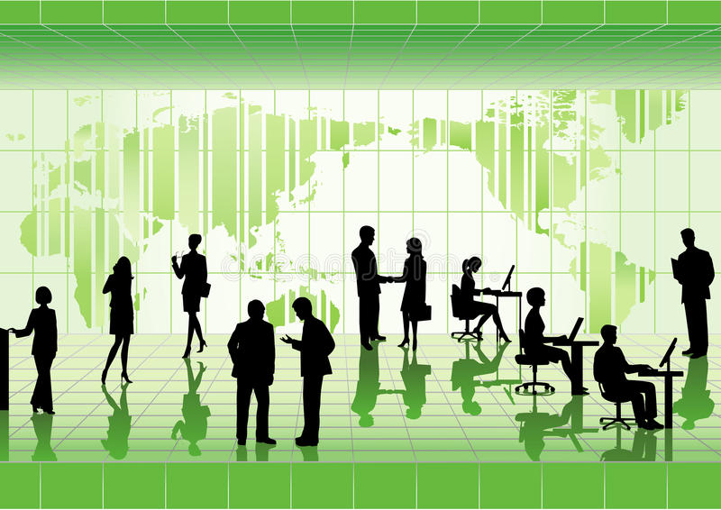 Download Group of business people. stock vector. Image of global - 16229751