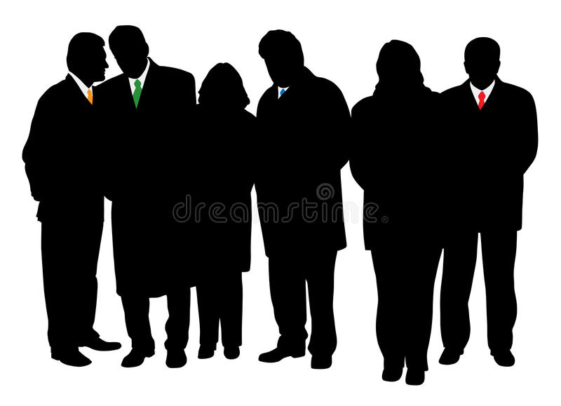 Group Of Business People In Winter Coats Royalty Free Stock Photography