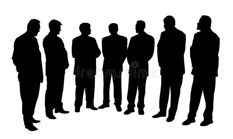 Group of business people vector illustration