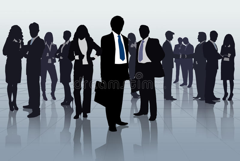 Group of business people royalty free illustration