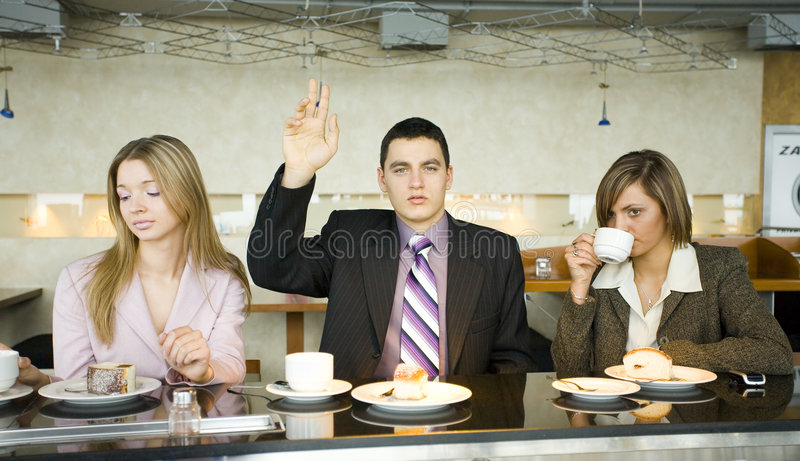 Group of Business People at the Bar royalty free stock photography