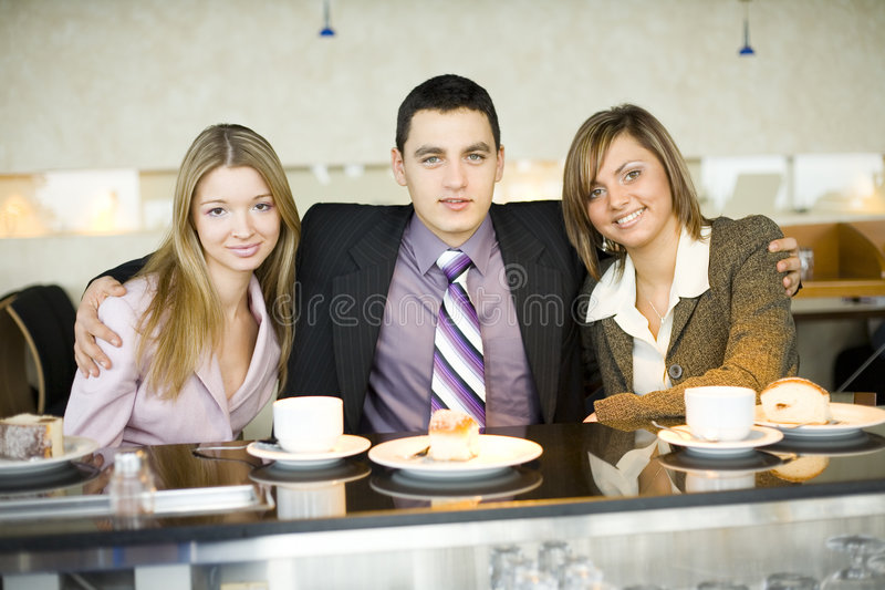Group Of Business People At The Bar Royalty Free Stock Photo