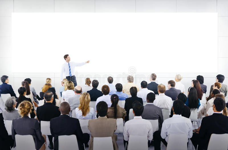 Group of Business People in Business Presentation stock photography