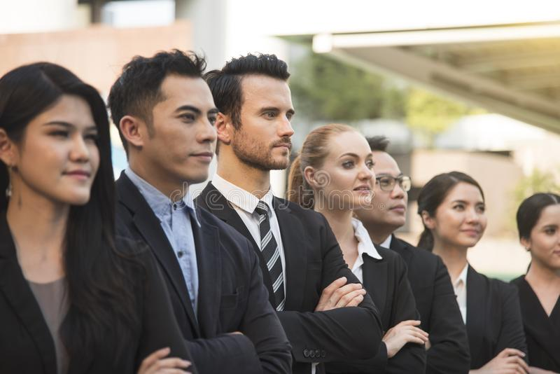 Group of business people with businessman for leadership. royalty free stock photography